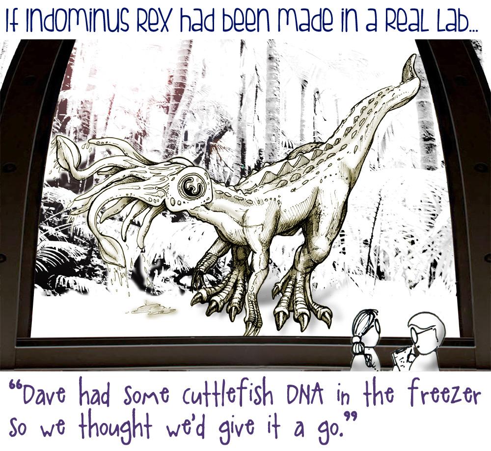 Cartoon hybrid dinosaur