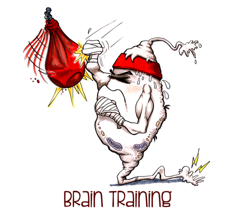Cartoon neuron using punchbag
